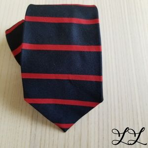 Brooks Brothers Tie Mens Blue Red Stripe 100% Silk